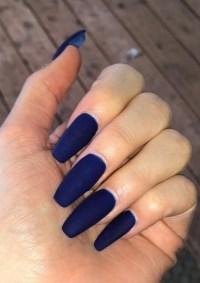 matte blue nails | Tumblr