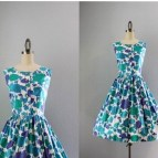 Exotic Blossoms Vintage 1960 Sundress Stunning