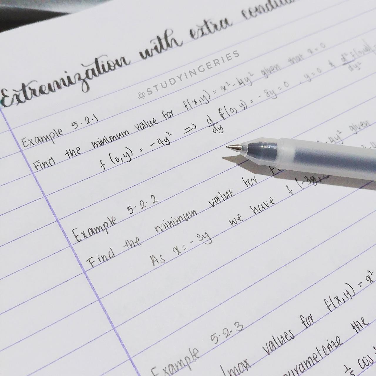 R. — studyingeries: Calculus notes~ I got my exam...
