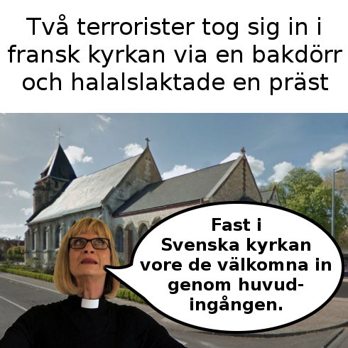 Svenska prästen Maggie Signäs kritiska till kyrka i Frankrike.
