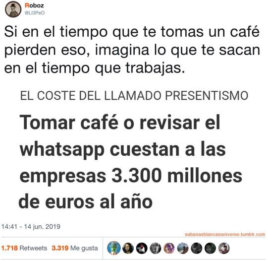 El café destruye a las empresas