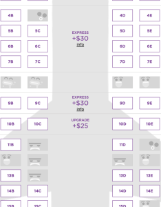 Virgin america during the seat selection process unavailable seats appear as avatars of also little big details  rh littlebigdetails