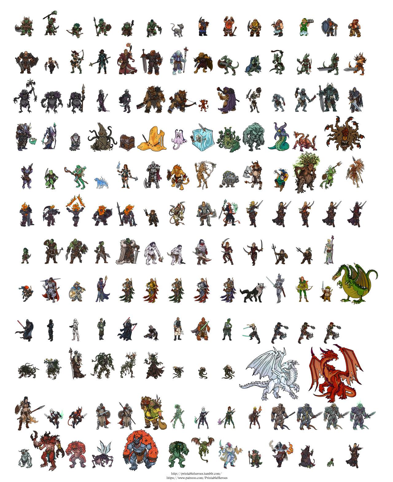 printable heroes every printable