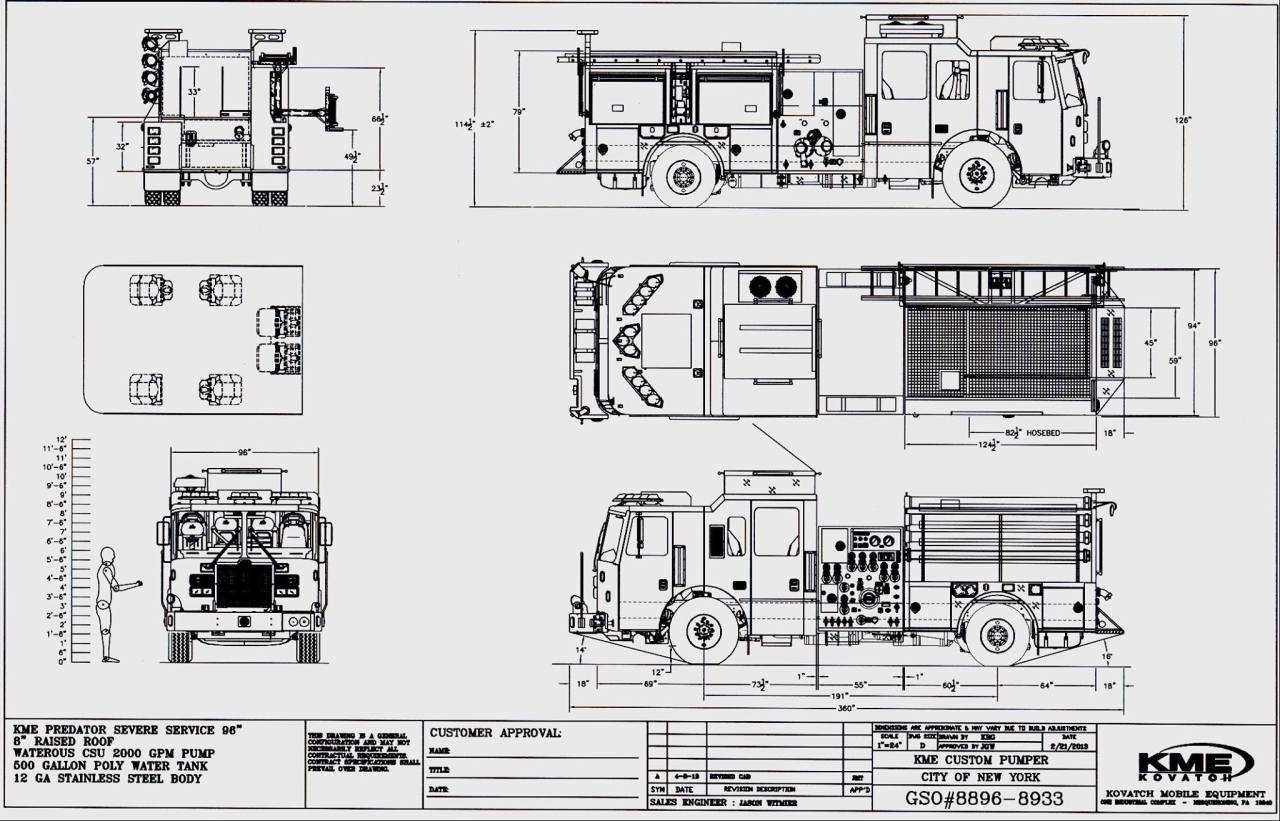 Fire/EMS/Police : KME drawing for new FDNY pumpers.