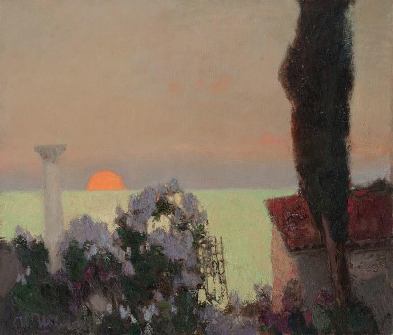 huariqueje:    Lilac, Sunset  -    Igor Shipilin 2013 Russian b.1961-  Oil on canvas,  60х70 cm.