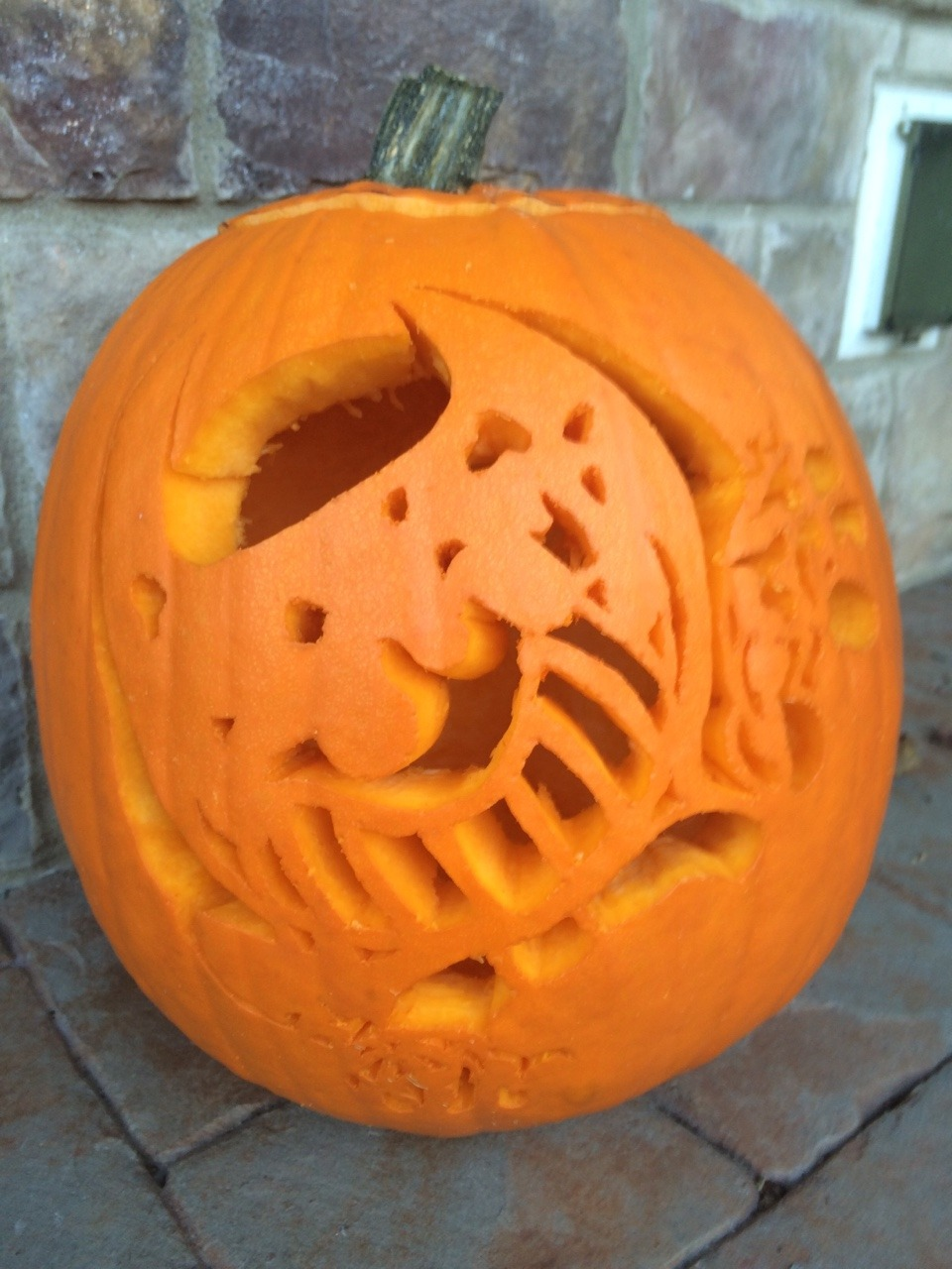 Cut Out And Machine Ink Bendy Pumpkin