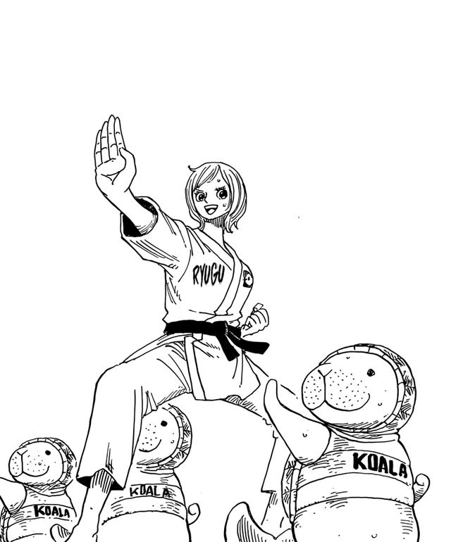 Koala teaching fishman karate to Dugongs One Piece...