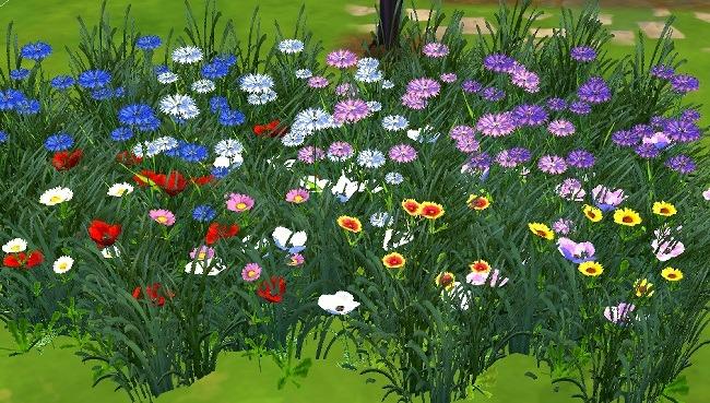 Sims Marktplatz  3t4 Gras und Blumen Set