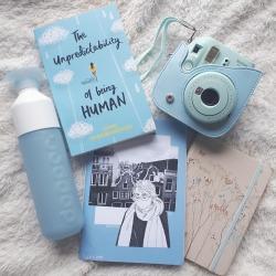 blue polaroid camera tumblr