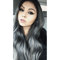 black and grey ombr hair | Tumblr
