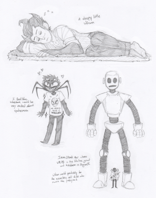 'Iron Giant AU where WX-78 is the titular giant and Webber