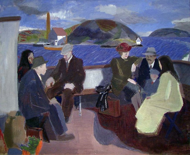 """huariqueje: """" On the local boat - Aurdal, Leon Norwegian, 1890-1949 National Museum, """""""