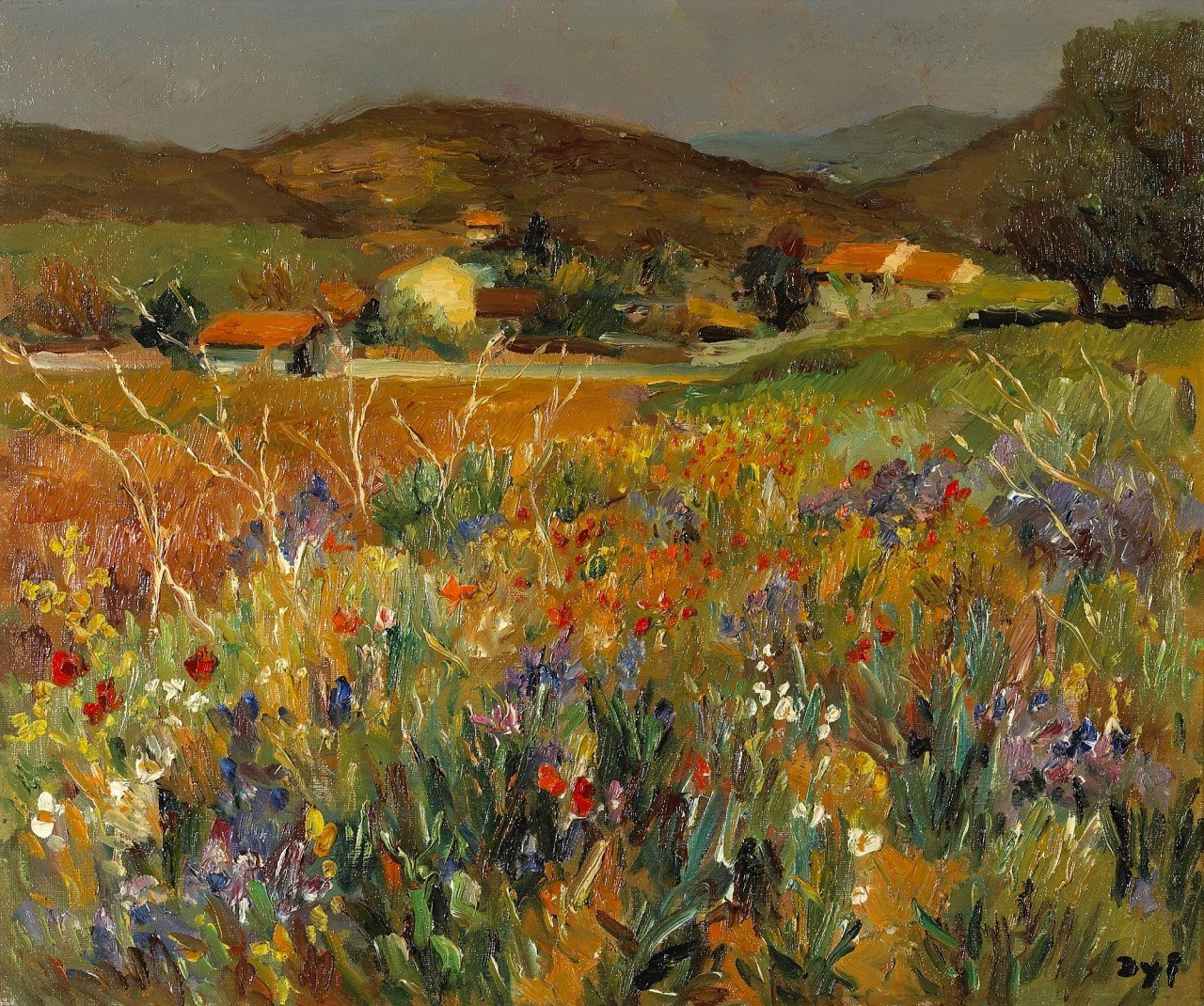 MARCEL DYF. Field of Flowers in Provence.