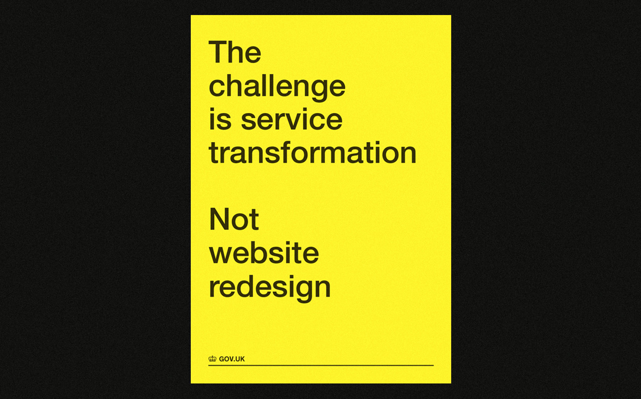 the challenge is service transformation GDS poster