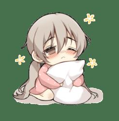 Anime Chibi Cute Tired