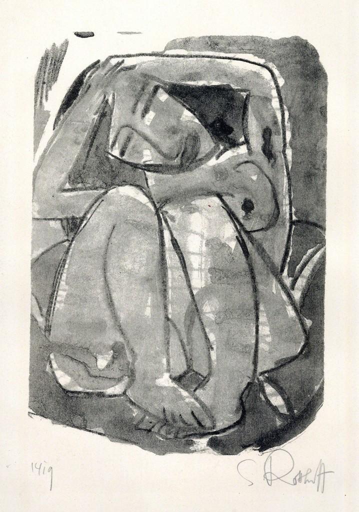 """topcat77: """" Karl Schmidt-Rottluff WEIB, 1914 Lithograph """""""