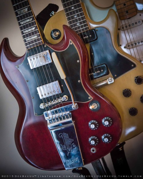 small resolution of restored 1969 gibson sg standard with 2009 gibson custom shop 1960 les paul special tv vos