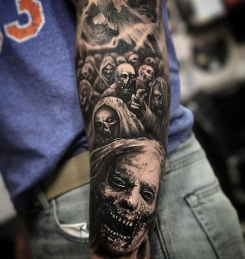 black and grey realism tattoo  Tumblr