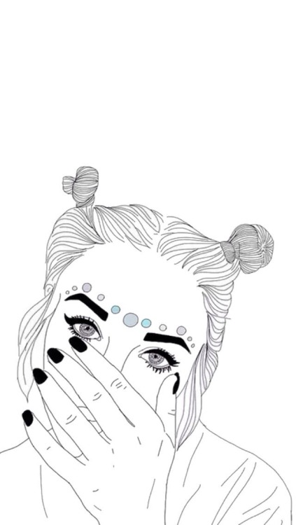 outline drawing on Tumblr