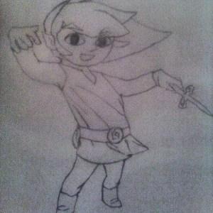 zelda drawing legendofzelda hmm decent looked legend link simple struggle