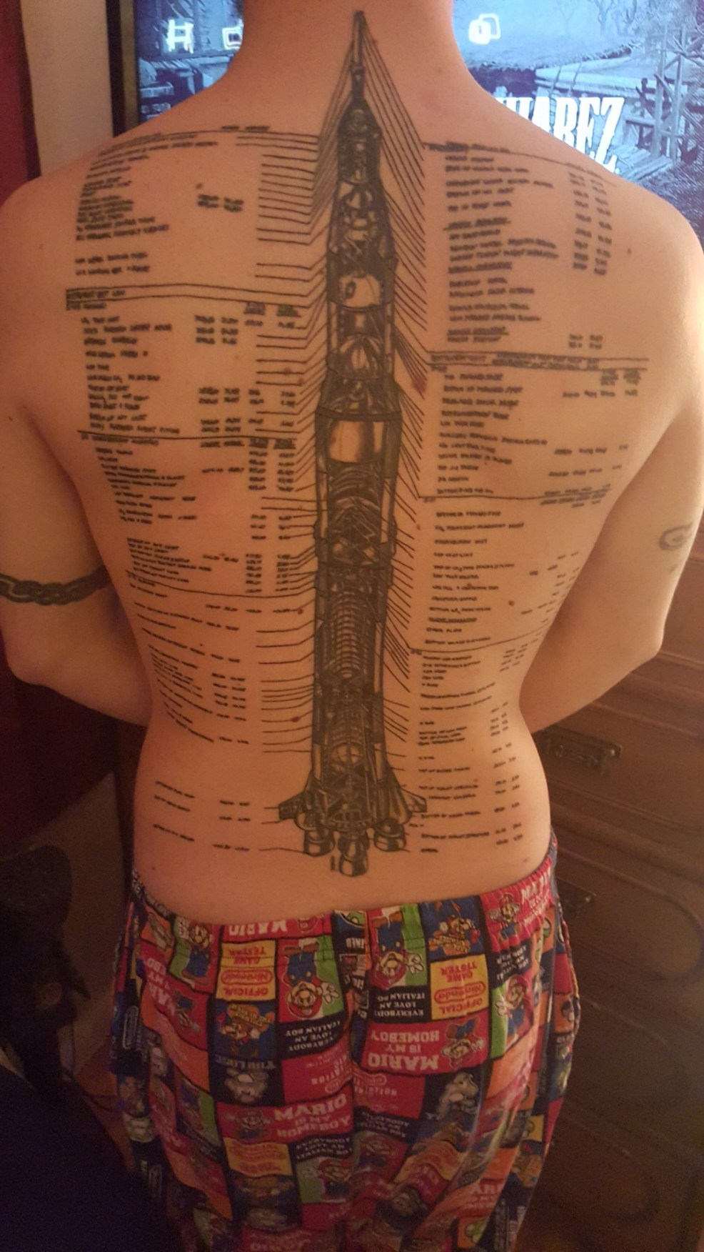 Peter From Texas Saturn V Rocket Tattoo
