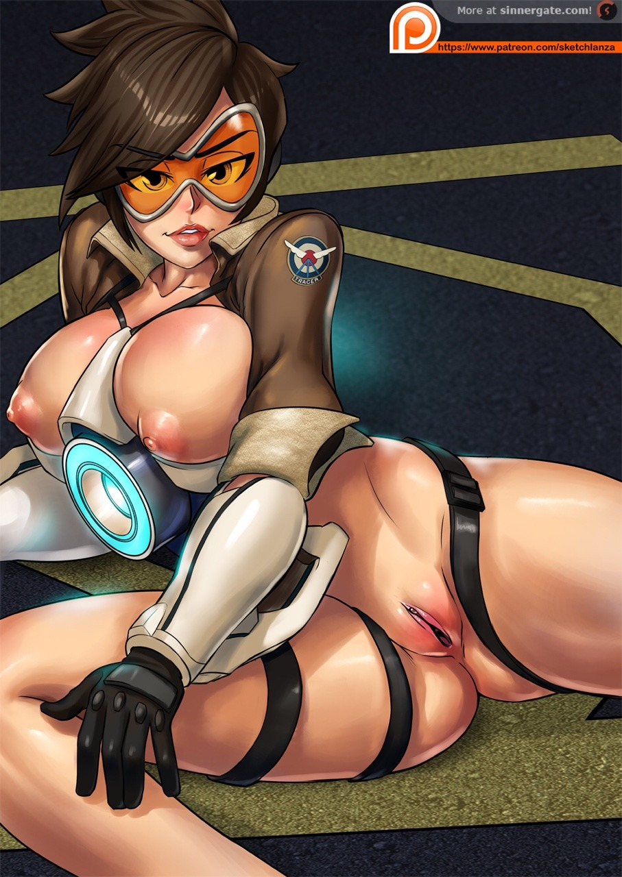 Tracer's Pussy and Tits are HOT