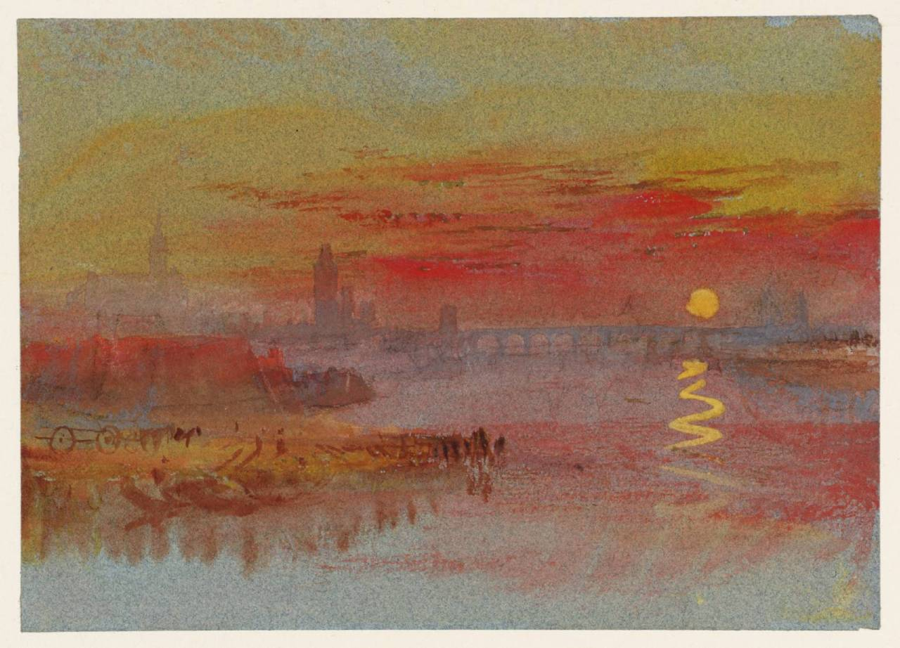"""thusreluctant:"""" The Scarlet Sunset by Joseph Mallord William Turner"""""""