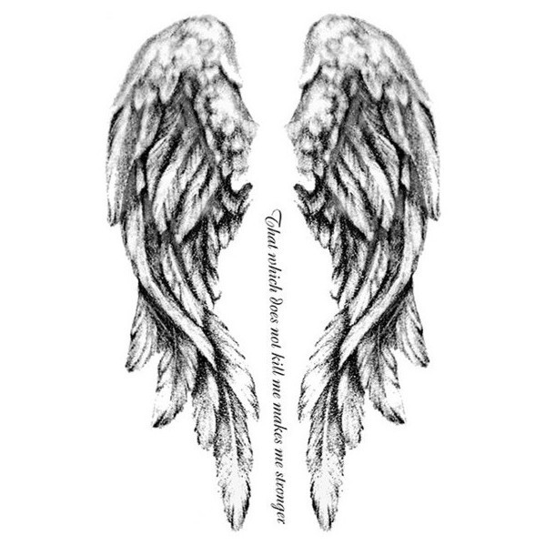 Untitled — Fallen Angel Tattoo liked on Polyvore