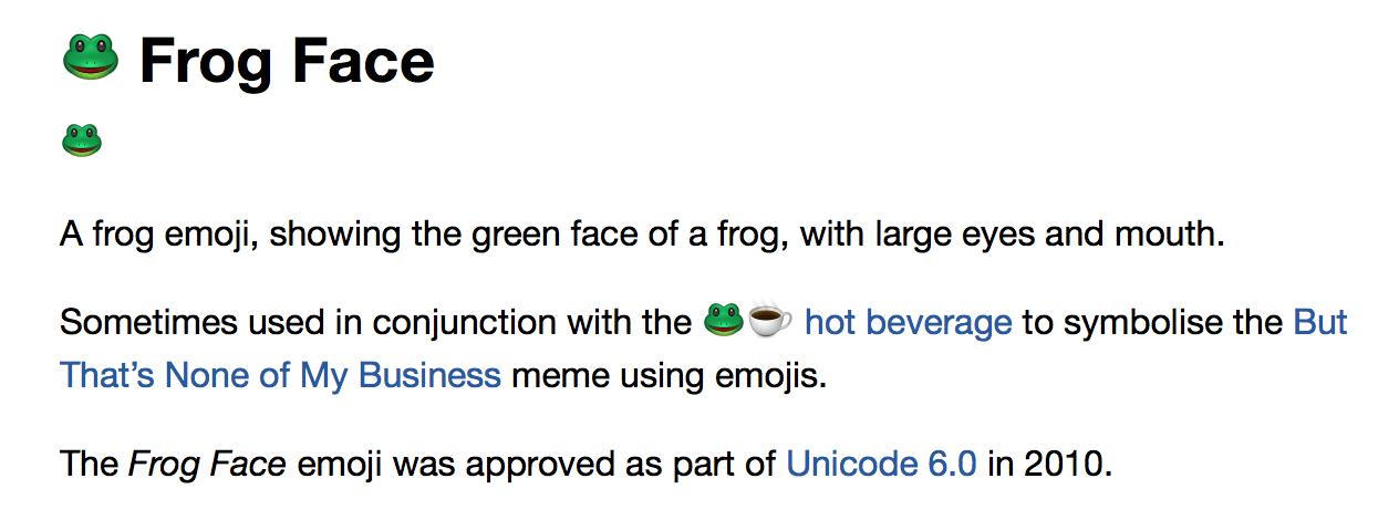 emoji blog what does