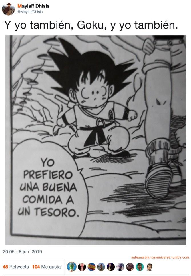 Goku es un tío listo