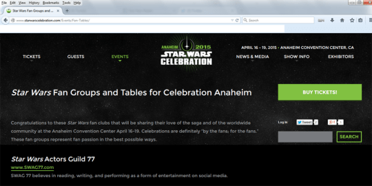 2014 Star Wars Celebration SWAG 77-1-1