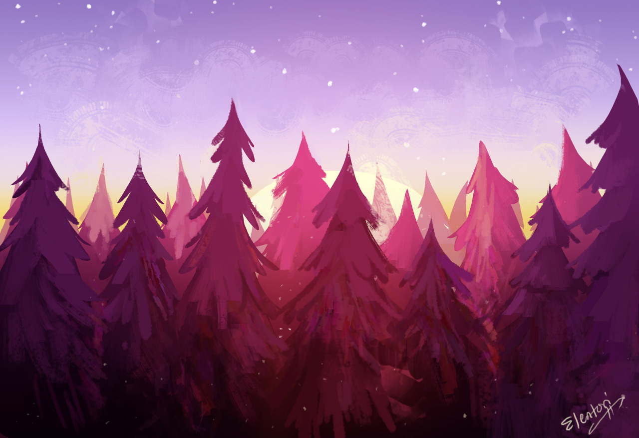 Gravity Falls Wallpapers Hd 1080p I Draw Stuff The Landscape Paintings From Earlier This