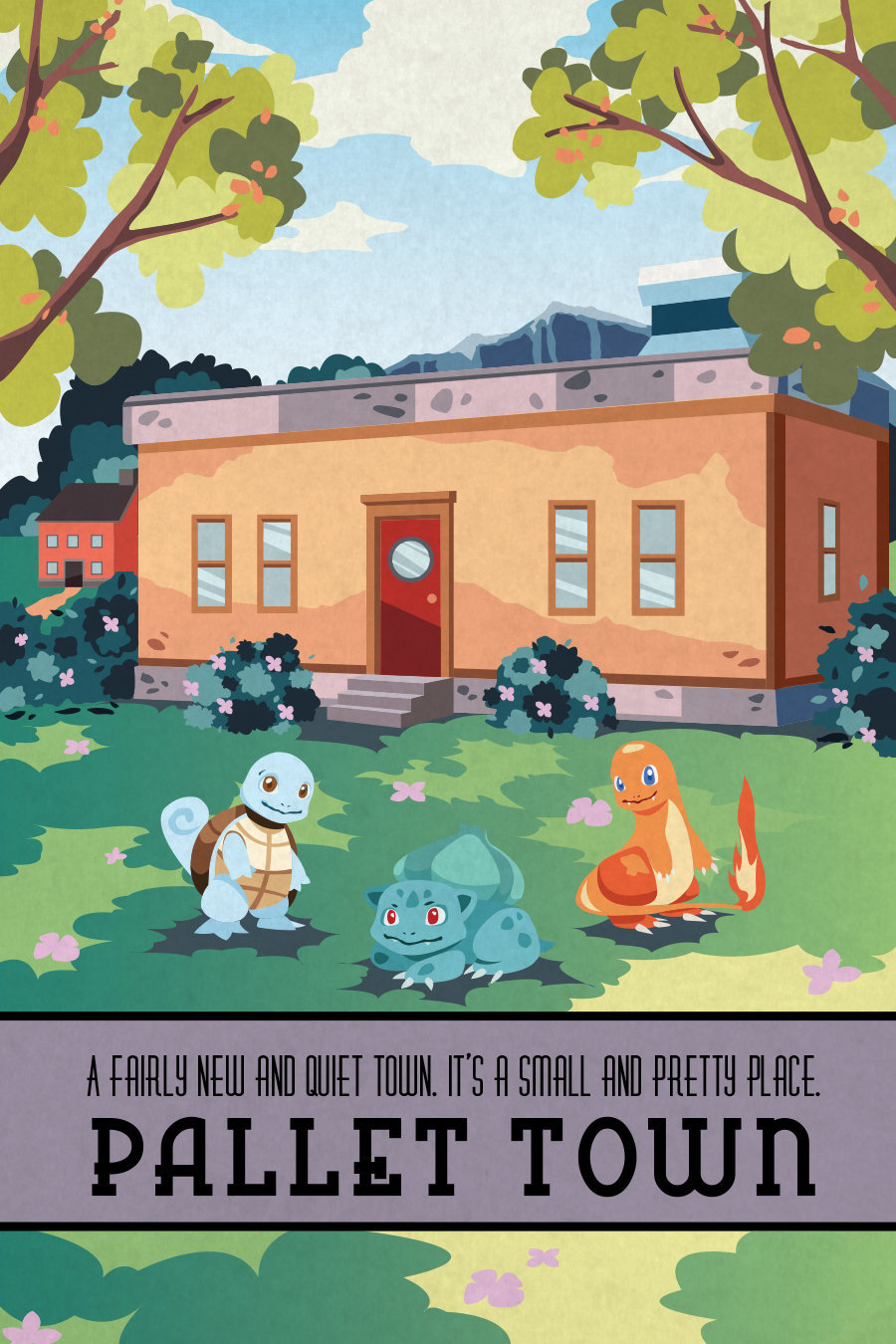 pokemon travel posters created
