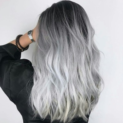 grey hair tumblr