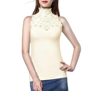 Women Turtle Neck Sleeveless Tops Mock Turtleneck Vest Polo Neck T Shirt. Soft and stretchy... , Sun, 15 Mar 2020 19:12:11 +0000