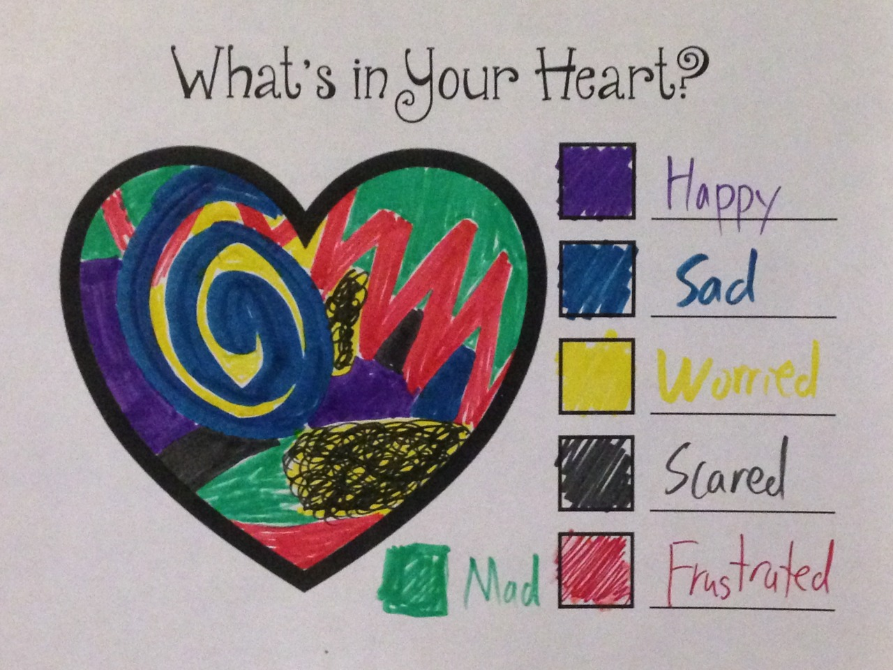 Color Your Feelings Intervention By Kevin