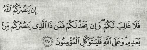 إن ينصركم الله فلا غالب لكم وإن