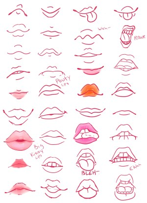 lips mouths colored drawing reference gloss wanted because lil