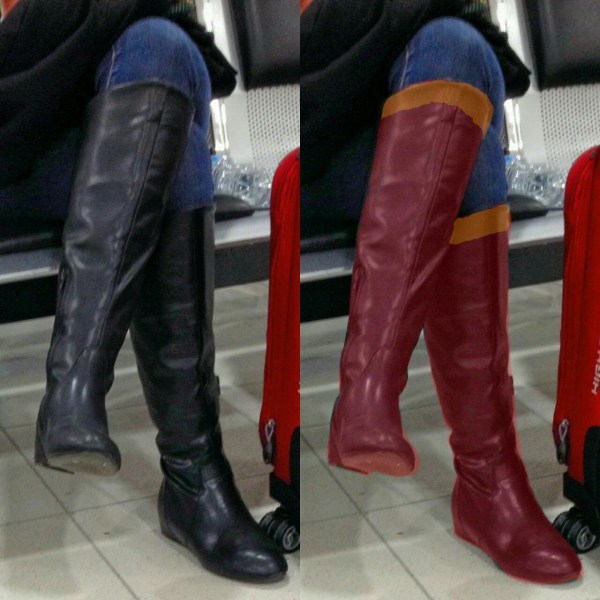 Ozkingpin Gf Boots With Slight Supergirl Fan