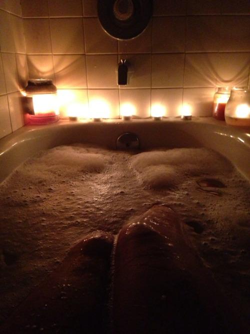 candle lit bubble bath  Tumblr