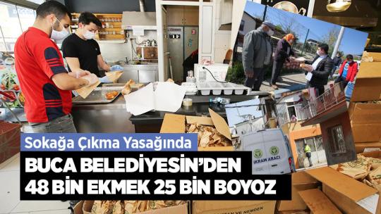 Buca Belediyesinden 48 bin Ekmek 25 Bin Boyoz