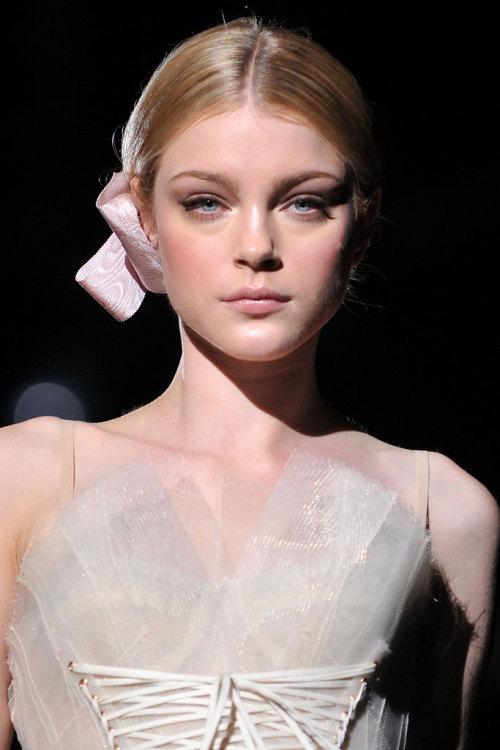 "fashionrobb: "" Jessica Stam at Dolce & Gabbana Spring 2009 RTW """