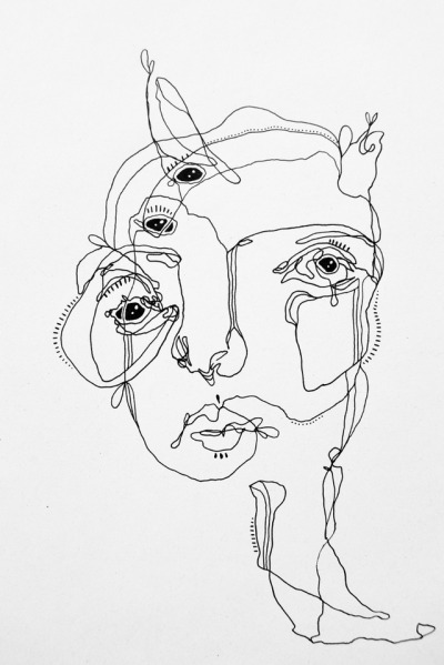 blind contour drawing tumblr