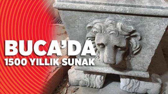 Buca'da 1500 Yıllık Sunak Ele Geçirildi