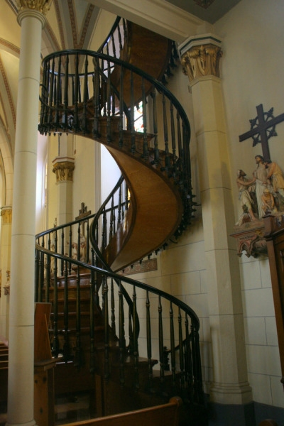 Loretto Chapel Staircase Tumblr   The Staircase Of Loretto Chapel   Spiral   Explained   Ancient   Free Standing   Sparrow