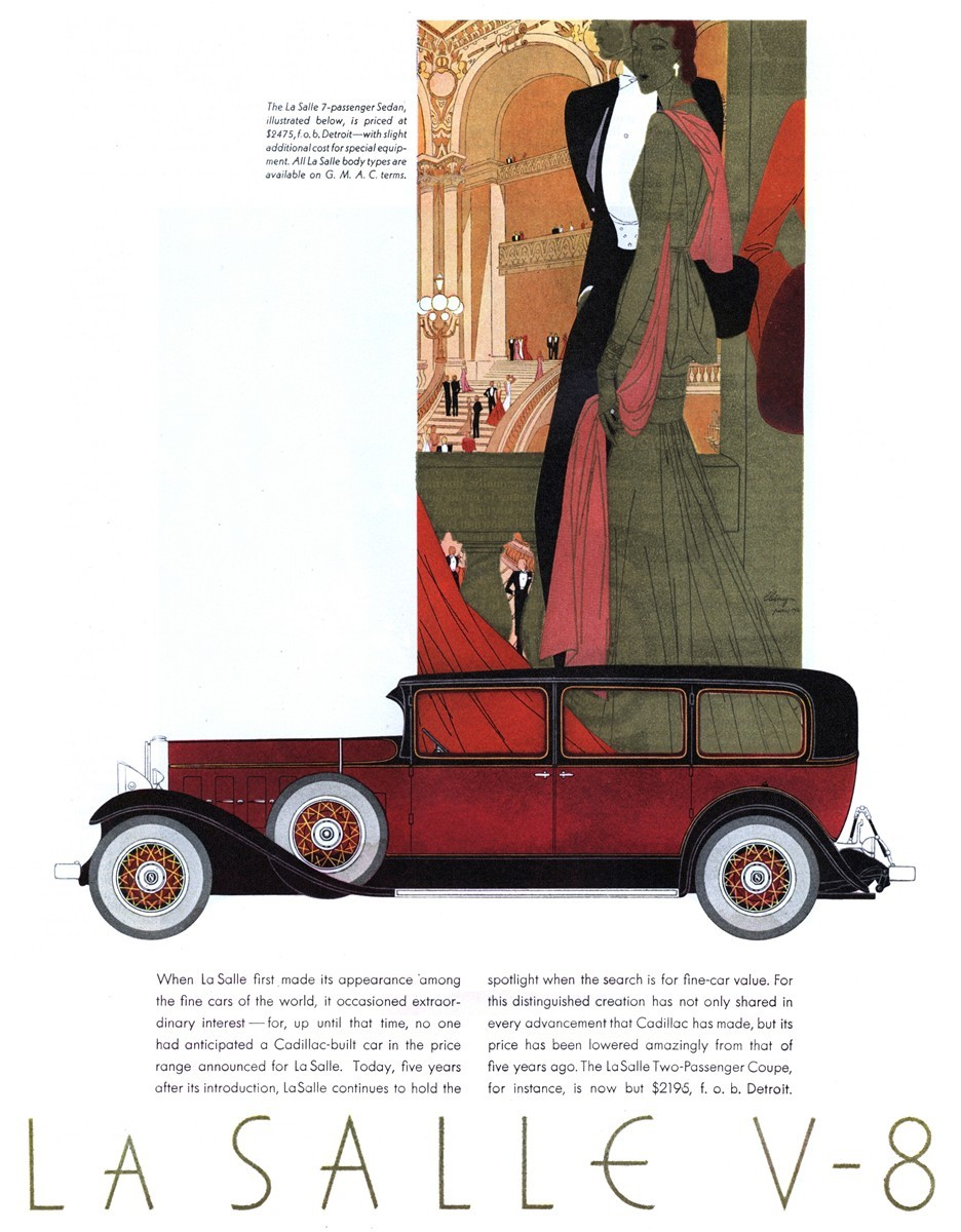 1931 La Salle 7-Passenger Sedan - Published in The Saturday Evening Post - November 21, 1931
