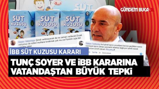 İzmir Büyük Şehir Belediyesinin Kararına Tepkiler Geldi.