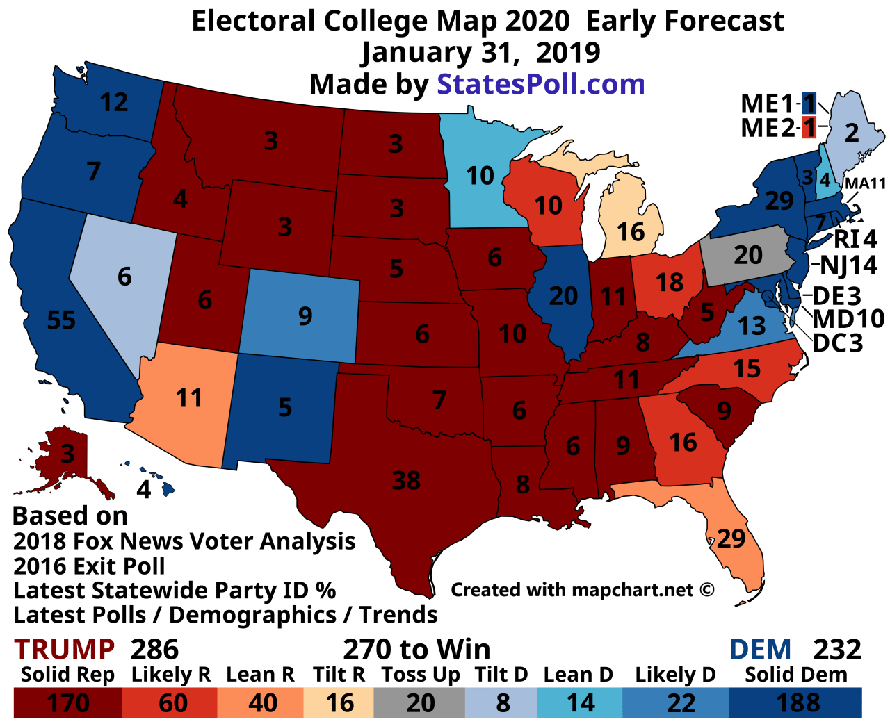 Presidential Election Electoral College Map