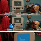 Bill bogged the computery guy! (DHMIS fan will get it)