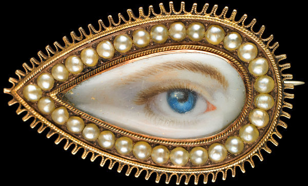 Marie Antoinette's Playhouse: These tiny eye paintings started as a fad in the late 1700s. Their purpose? To carry a piece of a loved one at all times without revealing their identity. It's a true token of a love affair, and fodder for a story of...